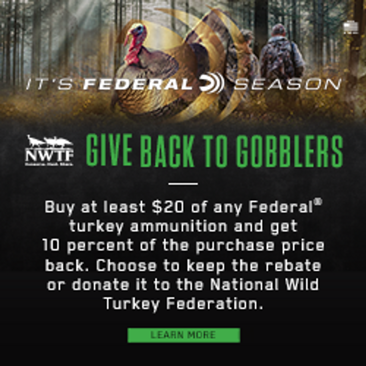 Federal Ammo Give Back to Gobblers Rebate