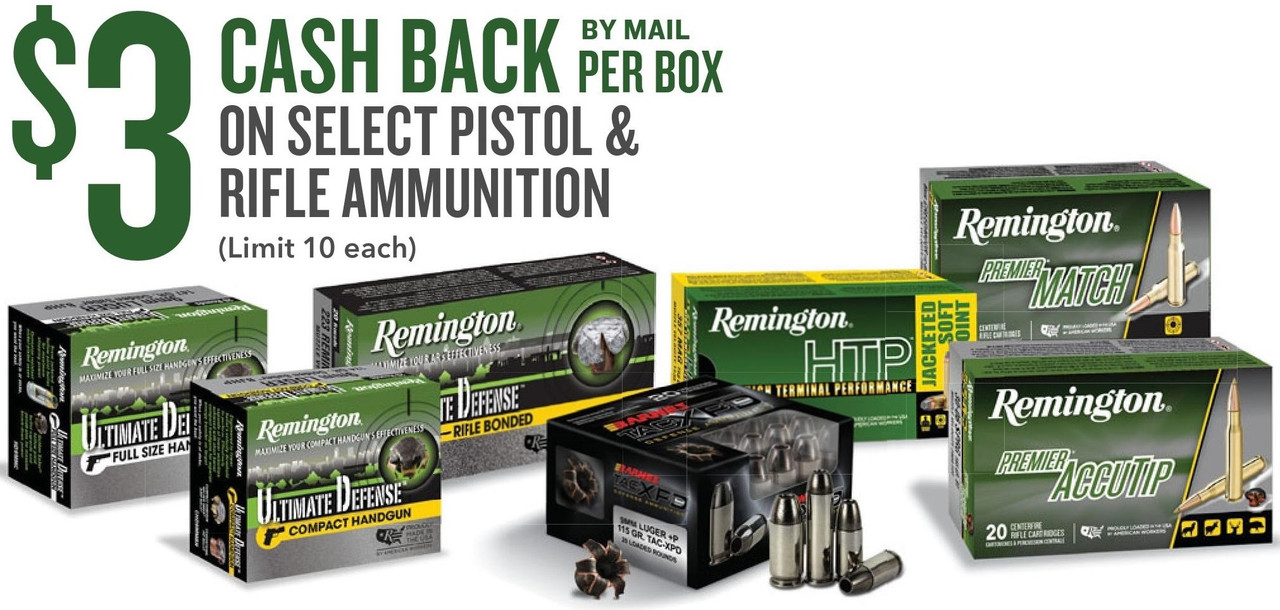 Remington Summer 2019 Ammo Rebate
