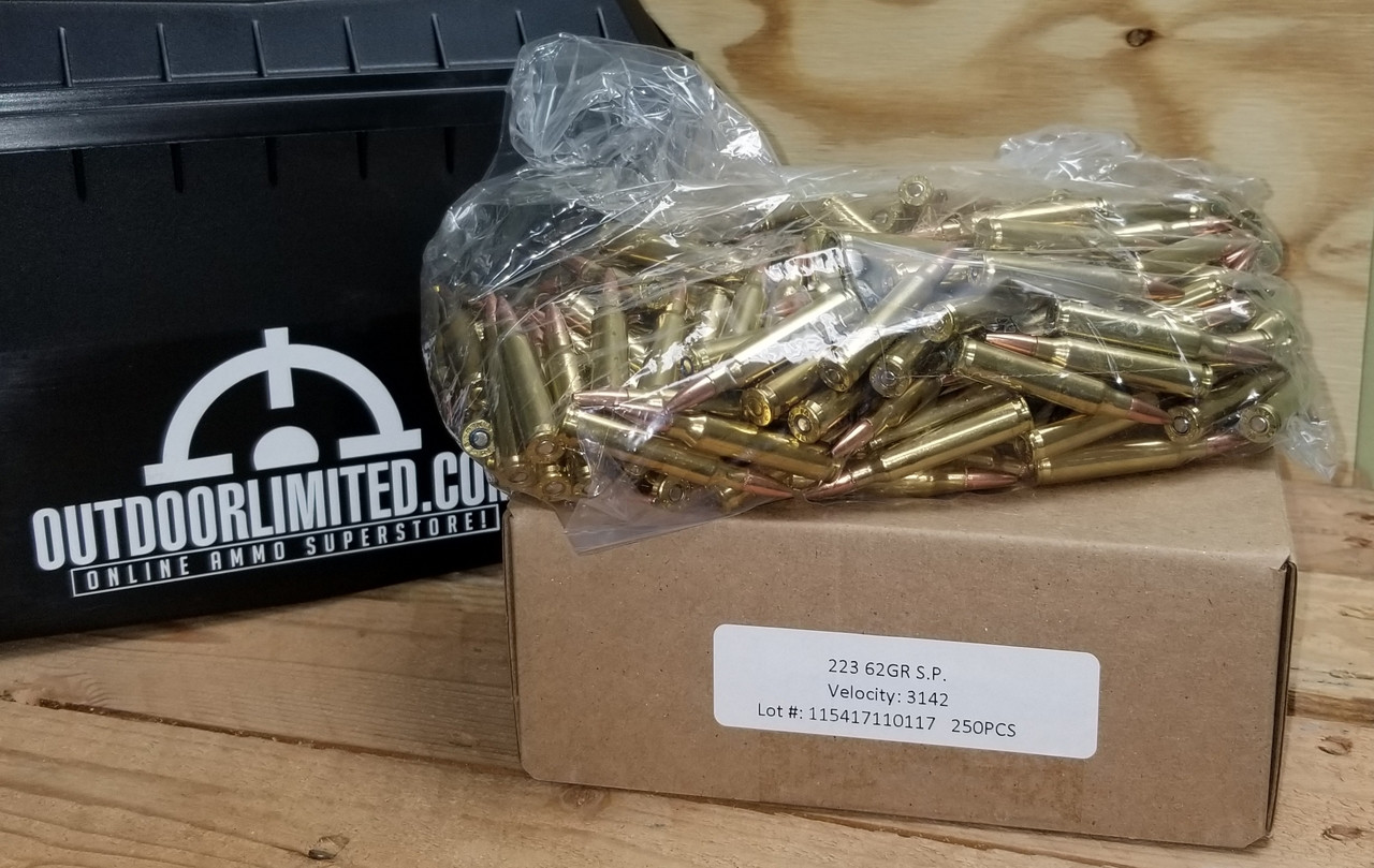Ten Ring 223 Rem Ammunition 62 Grain Soft Point 250 rounds