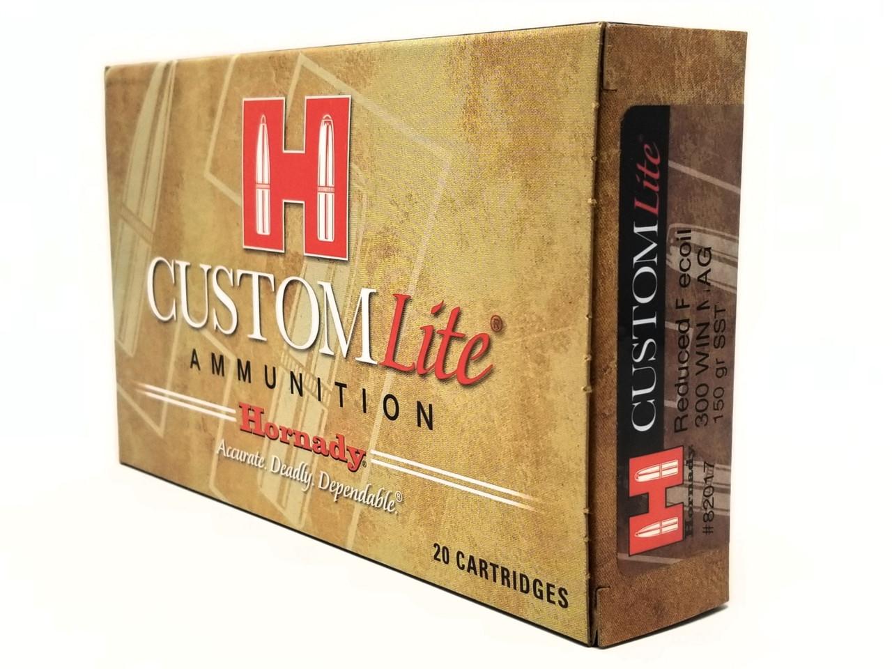 Hornady 300 Win Mag Ammunition Custom Light 82017 150 Grain SST 20 Rounds