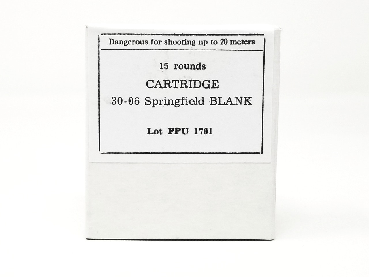 Prvi PPU 30-06 Ammunition PPB3006 Blanks 15 Rounds