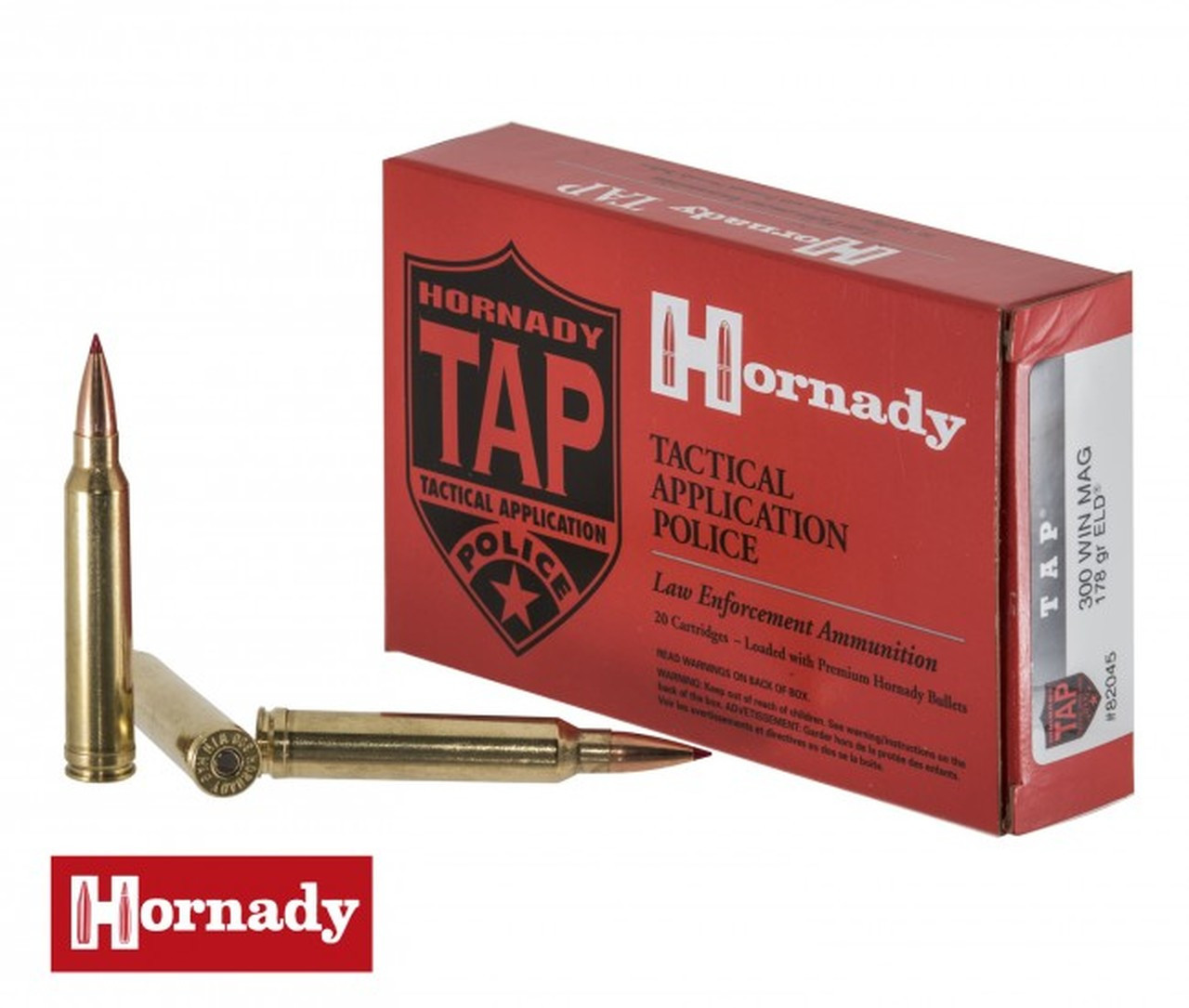 Hornady 300 Win Mag Ammunition TAP 82045 178 Grain ELD 20 Rounds