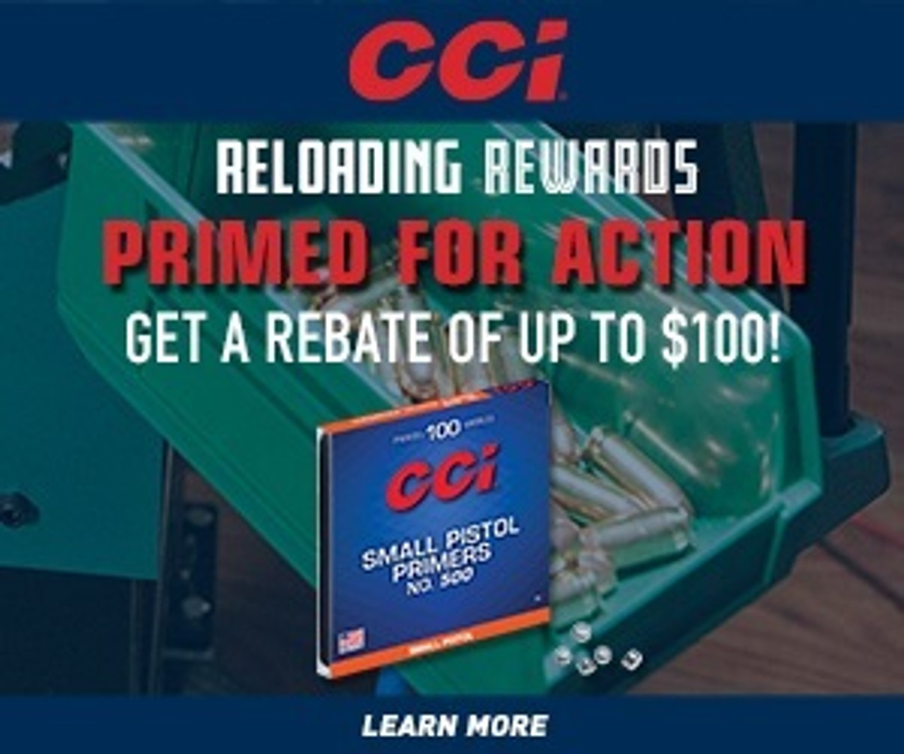 CCI Primed For Action Rebate