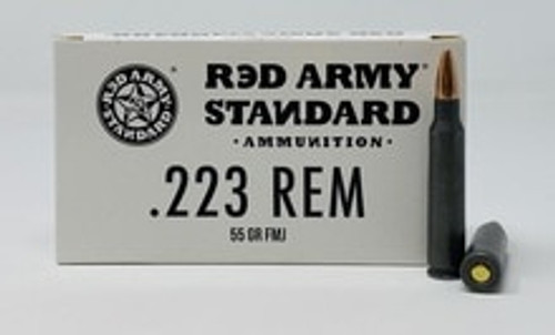 Century Red Army Standard 223 Rem Ammunition 55 Grain Full Metal Jacket CASE 20 Rounds