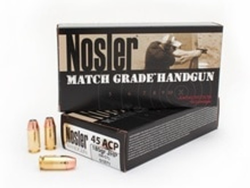 Nosler 45 ACP Match Grade 185 Grain Jacketed Hollow Point 50 Rounds