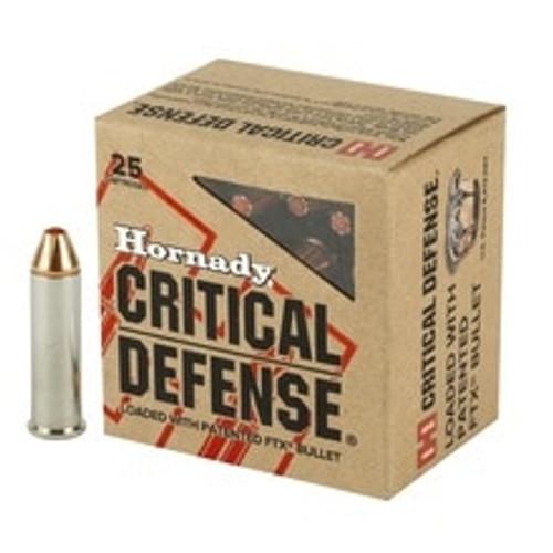 Hornady 327 Federal Mag Ammunition 90061 80 Grain FTX Critical Defense 20 Rounds