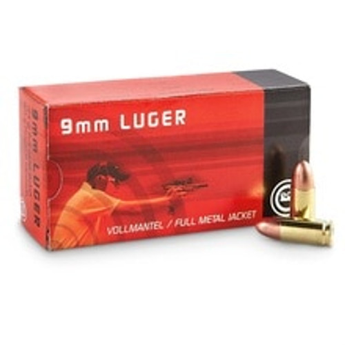 Geco 9mm Luger Ammunition 210040050 124 Grain Full Metal Jacket 50 Rounds