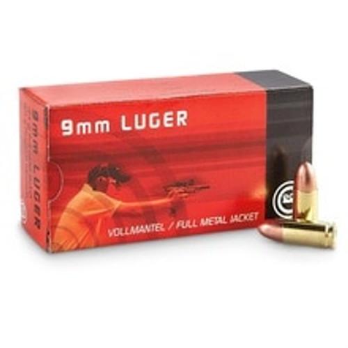 Geco 9mm Luger Ammunition 210040050 124 Grain Full Metal Jacket 50 Rounds