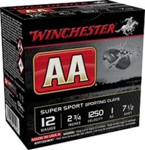 "Winchester 12 Gauge Ammunition AASC12507 2-3/4"" 1 oz 7-1/2 Shot CASE 250 Rounds"