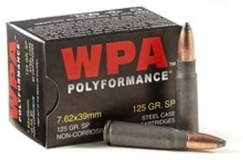 Wolf Polyformance 7.62x39mm Ammunition 125 Grain Soft Point 20 Rounds