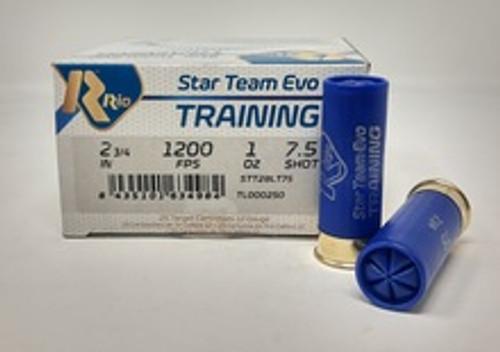 """Rio Star Team Training 12 Gauge Ammunition STT28LT75CASE 2-3/4"""" 1 oz #7.5 Shot CASE 250 Rounds"""