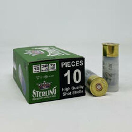 """Sterling 12 Gauge Ammunition STRLG12GBGS 2-3/4"""" 1-5/32 oz Slug 10 Rounds"""
