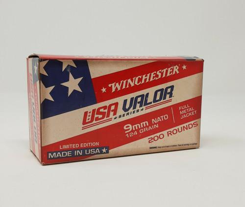 Winchester 9mm Nato Ammunition USA9NATOW 124 Grain Full Metal Jacket 200 Rounds