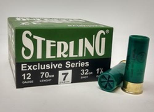 """Sterling 12 Gauge Ammunition STRLG1232G7CASE  2-3/4"""" 1-1/8 oz #7 Shot CASE 250 Rounds"""