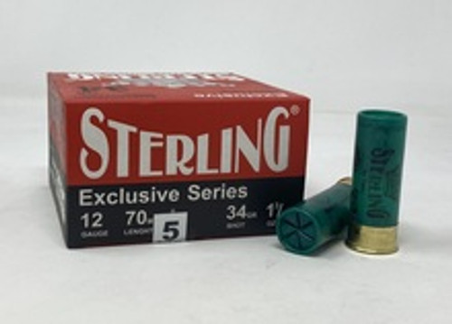"""Sterling 12 Gauge Ammunition STRLG1234G5CASE 2-3/4"""" 1-3/16 oz #5 Shot CASE 250 Rounds"""