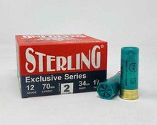 """Sterling 12 Gauge Ammunition STLRG1234G2 2-3/4"""" 1-3/16oz #2 Shot CASE 250 Rounds"""