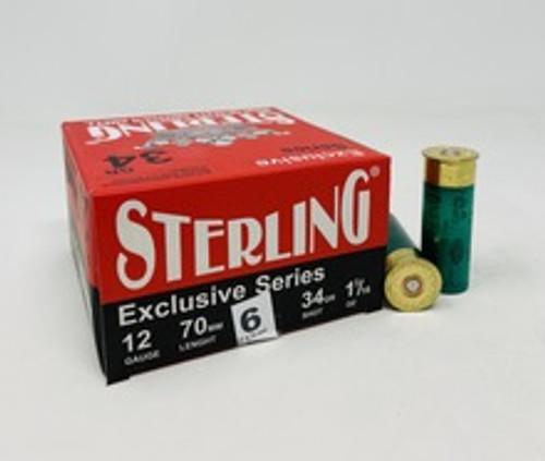 """Sterling 12 Gauge Ammunition STLRG1234G6 2-3/4"""" 1-1/5 oz 6 Shot CASE 250 Rounds"""