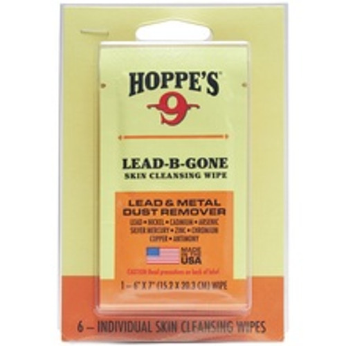 Hoppe's 9 Lead-B-Gone Lead & Metal Dust Remover Cleaning Wipes HOPPLBG6 6 Pack