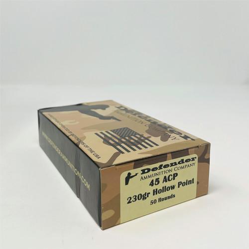 Defender 45 ACP Ammunition DEF45ACP230HPN 230 Grain Hollow Point 50 Rounds