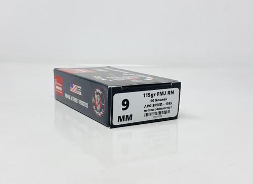 Lake Martin Machine Gun 9mm Luger **REMAN** Ammunition LMMG9MMFMJ50 115 Grain Full Metal Jacket 50 Rounds
