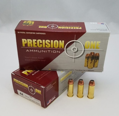 Precision One 44 Special Ammunition PONE1345 240 Grain XTP Hollow Point 50 Rounds