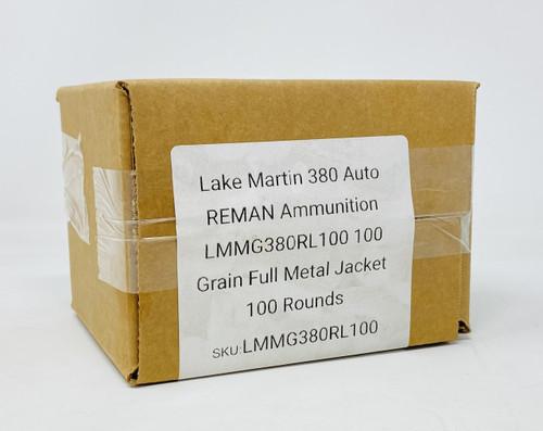 Lake Martin Machine Gun 380 Auto *REMAN* Ammunition LMMG380RL100 100 Grain Full Metal Jacket 100 Rounds