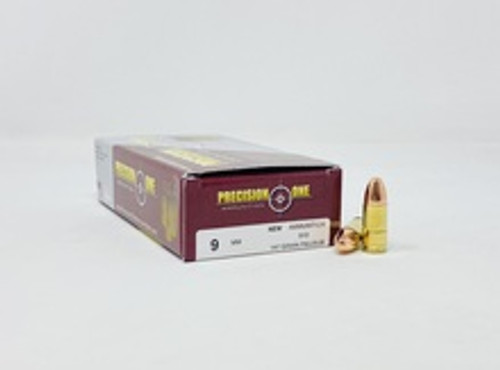 Precision One 9mm Luger Ammunition PONE34 147 Grain Subsonic Full Metal Jacket 50 Rounds