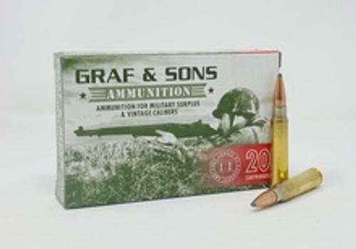Grafs & Sons Hornady 7.65 Argentine Ammunition H80489 150 Grain Soft Point 20 Rounds