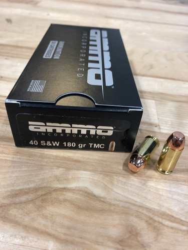 Ammo Incorporated 40 S&W 180 Grain Total Metal Coating AI40180TMC-A50 50 Rounds