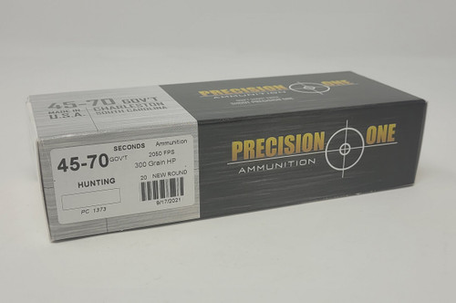 Precision One *Seconds* 45-70 Gov't Ammunition PONE1373 300 Grain Hollow Point 20 Rounds