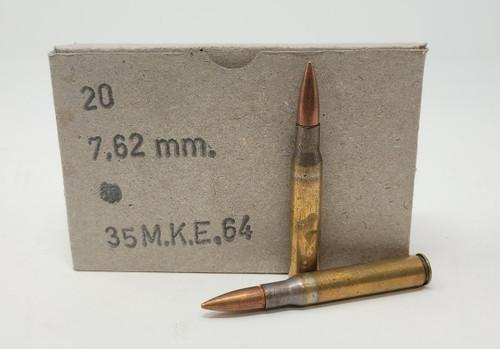 Turkish Military Surplus 7.62x63mm (30-06) Ammunition AM8006 151 Grain Full Metal Jacket 20 Rounds