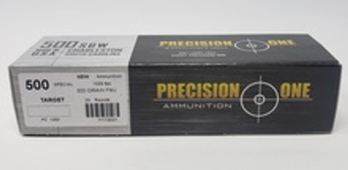 Precision One 500 Special Ammunition PONE1353 300 Grain Full Metal Jacket 20 Rounds