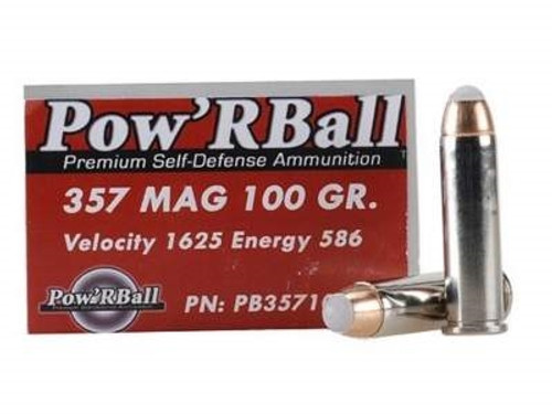 Glaser Corbon 357 Magnum PB357100 Ammunition 100 Grain Pow'r Ball 20 rounds