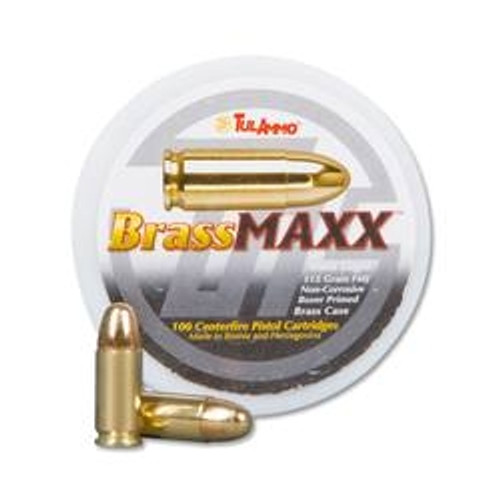 Tula 9mm BrassMAXX Ammunition 115 Grain Full Metal Jacket CAN 100 rounds