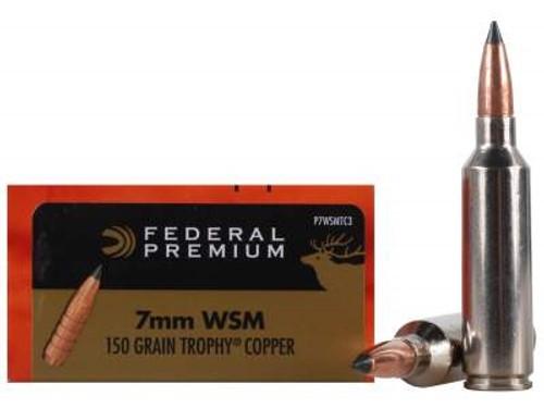 Federal 7mm WSM Ammunition Vital-Shok P7WSMTC3 150 Grain Trophy Copper  Tipped 20 rounds