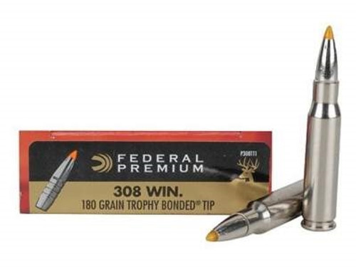 Federal 308 Win Vital-Shok P308TT1 180 Grain Trophy Bonded Tip 20 rounds