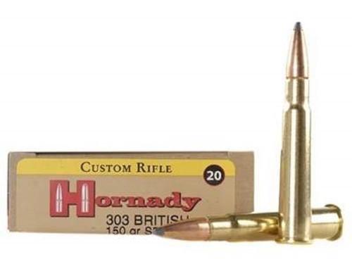 Hornady 303 British Custom H8225 150 gr Interlock SP 20 rounds