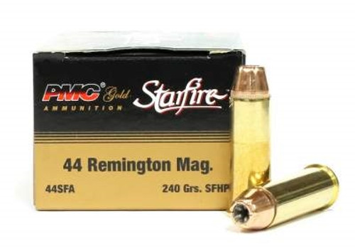 PMC 44 Magnum Ammunition Gold PMC44SFA 240 Grain Starfire Hollow Point 20  rounds