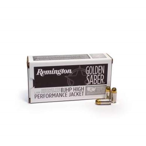 Remington 9mm +P Ammunition Golden Saber GS9MMDB 124 Grain Brass Jacketed  Hollow Point 50 rounds
