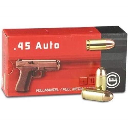 GECO 45 Auto Ammunition GE245440050 230 Grain Full Metal Jacket 50 Rounds