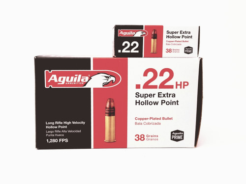 Aguila 22LR Ammunition SuperExtra 1B222335 38 Grain Hollow Point 50 Rounds
