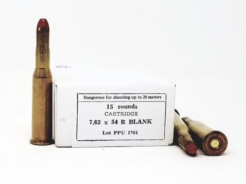 Prvi PPU 7.62x54 Rimmed Russian BLANK Ammunition PPB754 50 Rounds