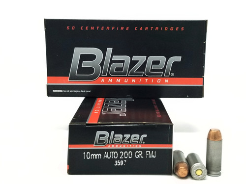 CCI 10mm Ammunition Blazer 3597 200 Grain Full Metal Jacket 50 Rounds