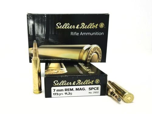 Seller & Bellot 7mm Rem Mag Ammunition SB7A 173 Grain SPCE 20 Rounds
