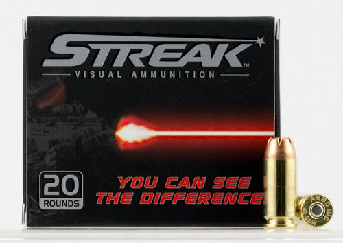 Ammo Inc. 40 S&W Ammunition STREAK 40180JHP-STRK 180 Grain Jacketed Hollow Point 20 Rounds