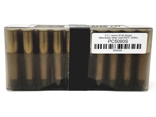P.C.I. 50-90 Sharps Ammunition PC5090S 450 Grain Lead Rounds Nose Flat Point 20 Rounds