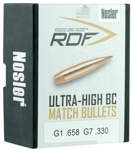 Nosler 6.5mm (.264 Dia) Reloading Bullets Ultra-High BC 49824 140 Grain Hollow Point Boat Tail 100 Pieces