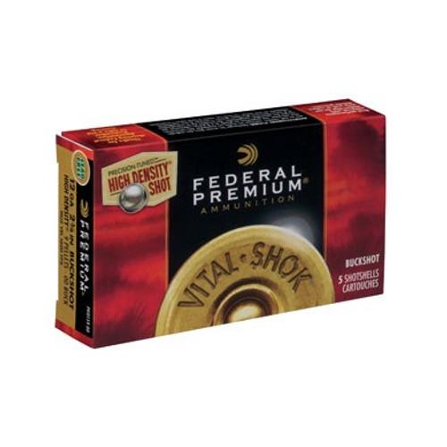 "Federal 12 Gauge Ammunition Vital-Shok PHD15900 2-3/4"" 00 Buck 9 Pellets High Density Lead-Free Flitecontrol Wad 1600fps 5 Rounds"