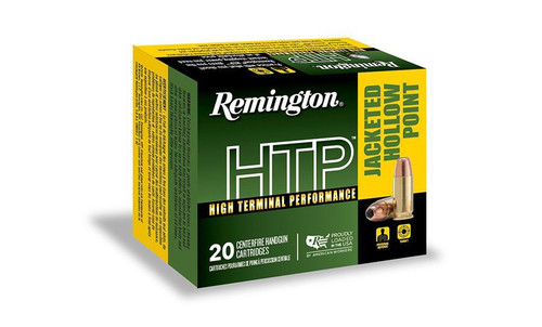 Remington 9mm Ammunition HTP High Terminal Performance RTP9MM8A 147 Grain Jacketed Hollow Point 20 Rounds