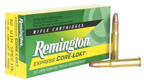 Remington 32 Win Special Ammunition Core-Lokt R32WS2 170 Grain Core-Lokt Soft Point Tip 20 Rounds